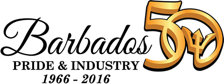 Barbados 50th anniversary logo