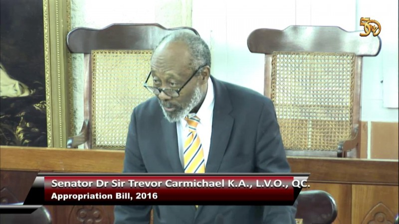 Senator Dr  Sir Trevor Carmichael, K.A.
