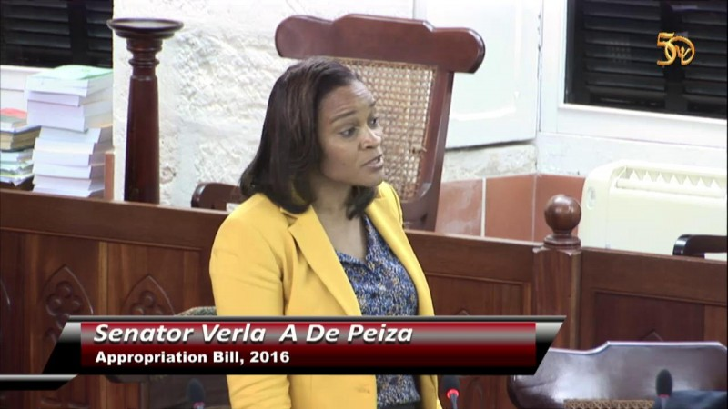 Senator Miss Verla A De Peiza