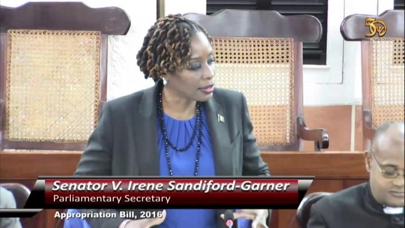 Senator Mrs. V. Irene Sandiford-Garner